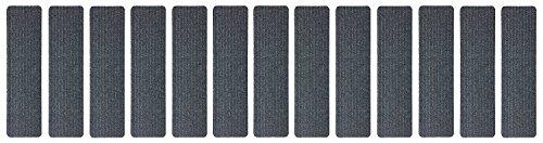 Stair Treads Collection Indoor Skid Slip Resistant Carpet Stair Tread Treads (Dark Grey, Set of 13 (8 in x 30 in)) by RugStylesOnline (Image #3)