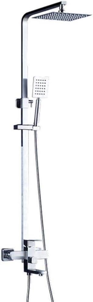 BYTNDERF Kit de Columna de Ducha | 20 * 20 cm Cuadrado Boquilla ...