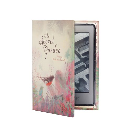 KleverCase Book Cover Case for Amazon Kindle 4th or 5th Gen Only - The Secret Garden
