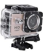 Vbestlife Sport Actie Camera, Waterdichte 1080p Onderwater Cam met 140° Groothoek Lens,900mAh Batterij,Onderwater 30M