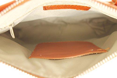 CTM Beutel der eleganten Frauen mit Schulterriemen, 22x24x4cm, echtes Leder 100% Made in Italy Leder