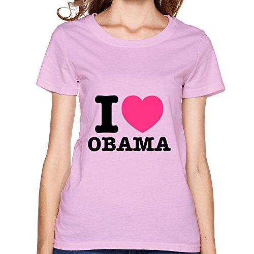 Women I LOVE BARACK OBAMA Tshirts,Pink Tee Shirt By HGiorgis S Pink (T-shirt White Barack Obama)