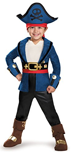Captain Jake Deluxe Costume, Medium (3T-4T) -