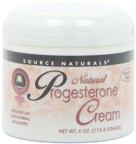 Crème progestérone Source Naturals naturel, 4 onces (113,4 g)