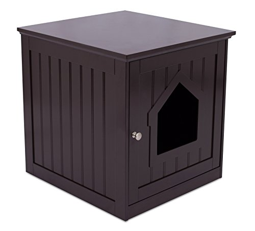 Internets-Best-Decorative-Cat-House-Side-Table-Cat-Home-Nightstand-Indoor-Pet-Crate-Litter-Box-Enclosure