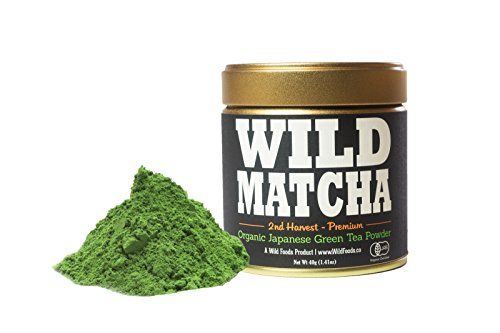 (Organic Matcha Green Tea From Japan, Wild Matcha, Ceremonial Grade, JAS Organic (40 gram - 2nd Harvest Premium))