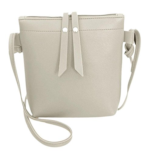 Pure Women Bags Small Grey Domybest Messenger Casual Leather PU Shoulder Handbags Zipper UqwEY