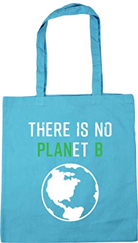 x38cm Beach Surf No Planet B Bag 10 Blue There Shopping Is Tote HippoWarehouse 42cm Gym litres PqRH8aa
