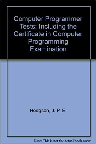 Computer Programmer Tests: Including the Certificate in Computer ...
