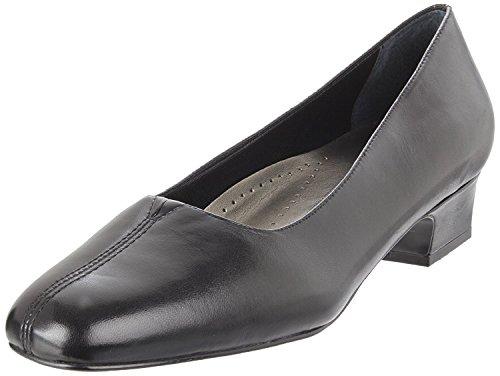 Trotters Womens Doris Leather Closed Toe Classic Pumps, Black, Size 10.0