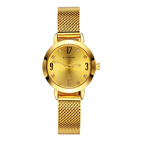 KASHIDUN Women's Quartz Watches Wrist Watches Gold Small Diamonds Dial Milanese Mesh Alloy Bracelet.SD-J.z