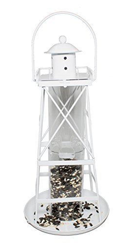 Dennis East Lighthouse Bird Feeder (White)