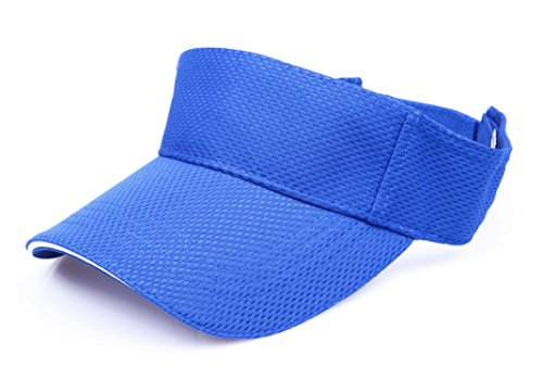 Blue Team Visor - RufnTop Mesh Visor Sport Headband Athletic Sportswear Runing & Outdoor Activities for Unisex (Blue One Size)