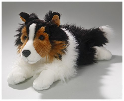 Shetland Sheepdog (Collie) black-white-brown, 12 inches (15.5 inches total lengh), 30cm/40cm, Plush Toy, Soft Toy, Stuffed Animal 3372002