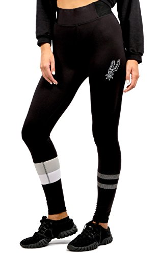 UNK NBA NBA Women's San Antonio Spurs Leggings Perimeter Fitness Sport Yoga Pants, Medium, Black - San Antonio Spurs Gear