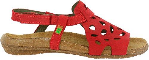 wakataua Mujer Sandalias 37 Velcro Rojo N5064 Pleasant Tibet vnqERE