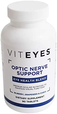VITEYES Optic Nerve Support Supplement, Promotes Eye Health and Protects Vision, 90 Count - Single Daily Dose Eye Vitamin
