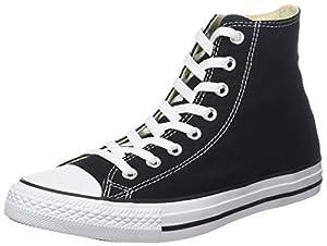 Converse Chuck Taylor All Star Canvas High Top Sneaker, Black, 11.5 US Men/13.5 US Women