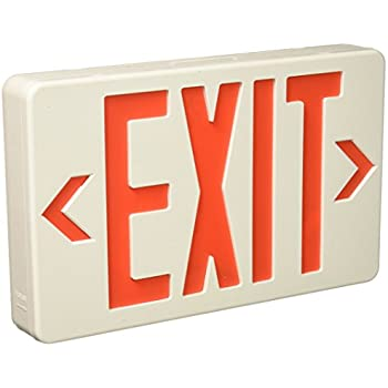 Royal Pacific Rxl5rw Led Exit Sign White With Red Letters