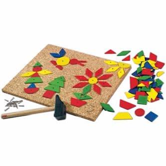 (HABA Geo Shape Tack Zap Large Imaginative Design 100 Piece Set (Made in Germany))