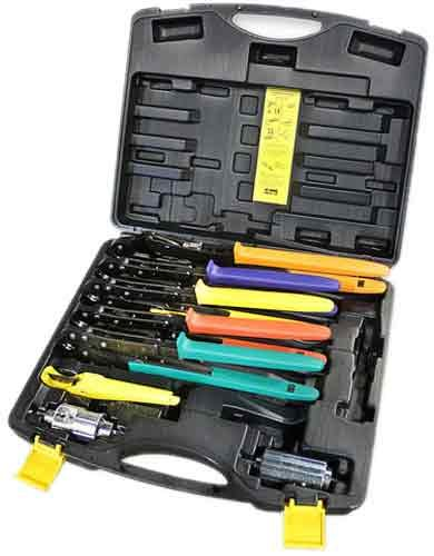 Viega 56030 ProRadiant 3//8-Inch 1//2-Inch 5//8-Inch 3//4-Inch and 1-Inch PEX Press Tool Set