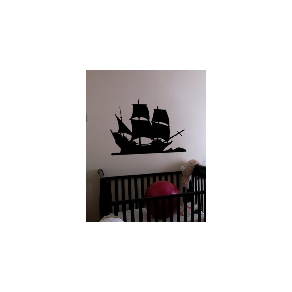 Vinyl Wall Art Decal Sticker Pirate Ship Decor2 21x29 #197