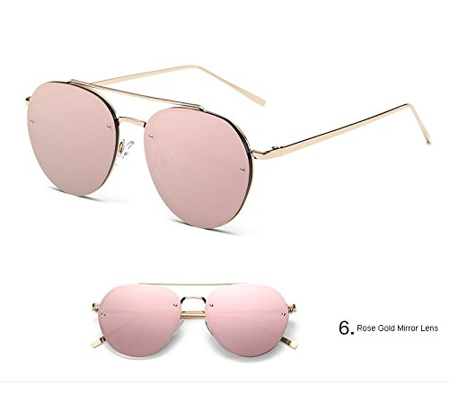 Tönung Gläser Retro KXLEB 3 6 Objektiv Brillante Sonnenbrille Designer Metall Runde Marke Frauen 0rwSzq0B