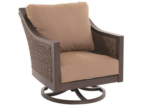 Sunvilla A085300-02-FCAC Biscay Outdoor Dark Brown Wicker Swivel Lounge Chair - 34.25 x 30.75 x 35.5 in. price