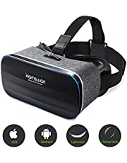 HAMSWAN VR Headsets, 3D Glasses, Virtual Reality Headsets with Built-in Headphones with 120 Degree FOV for iPhone X 8 7 6/6s plus, Samsung S6 S7 S8/Plus/Edge Note 8