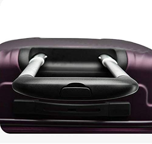 Trolley Case for Men and Women 20 Inch Boarding 20 Fashion Suitcase Universal Wheel Suitcase Color : Purple, Size : 20 inches