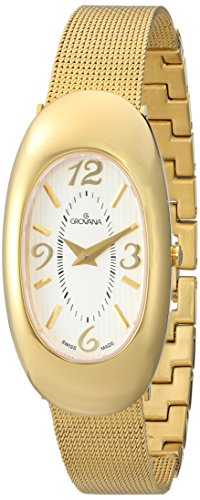Grovana Women's 'Ladies Dressline' Swiss Quartz Stainless Steel Casual Watch, Color:Gold-Toned (Model: 4416-1112)