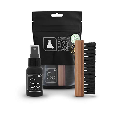 Sneaker LAB Environmentally Friendly Shoe Cleaner Kit | Safe To Use On Suede, Leather, Canvas & Various Other Materials | Ideal for Cleaning White Shoes | 1.7 Oz. Bottle]()