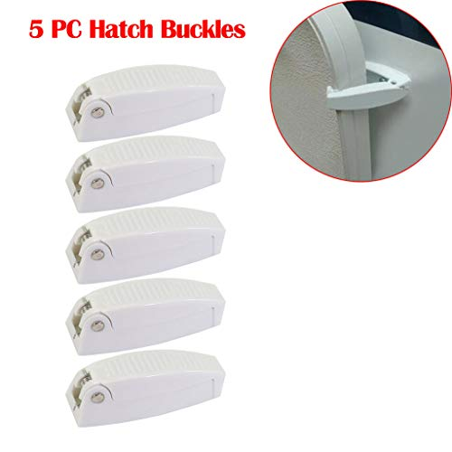 - 5PCS RV Baggage Door Clips Catch Holders Compartment Latch Holder Camper White by SMOXX, Car Parts and Accessories Pro Premium Easy Install