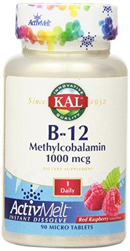 KAL B-12 Methylcobalamin Active Melt Raspberry Tablets, 1000