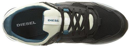 Diesel Mens Remmi-v S-fury M Fashion Sneaker Nero / Ghiaccio