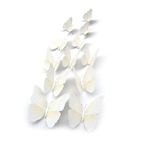 - Wall Stickers--Oksale® 12x 3D Butterfly Bedroom Home Art Applique Wall Stickers Papers Mural Decor Decal 31.5*15.7