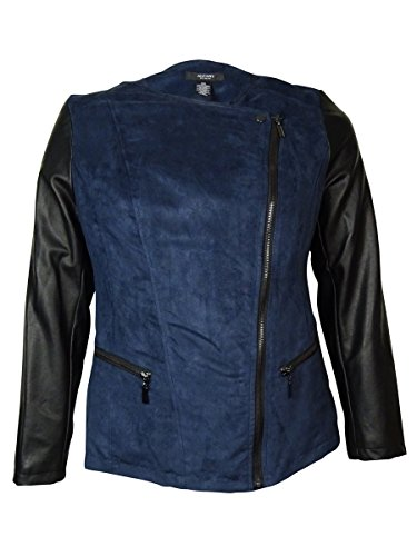 Leather Trim Motorcycle Jacket - 8