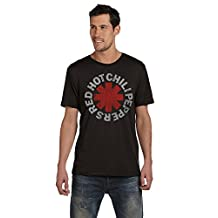 Red Hot Chili Peppers Distressed Logo Mens Music Tee