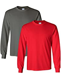 Men's Big and Tall Ultra Cotton Long Sleeve T-Shirt (Pack of 2)