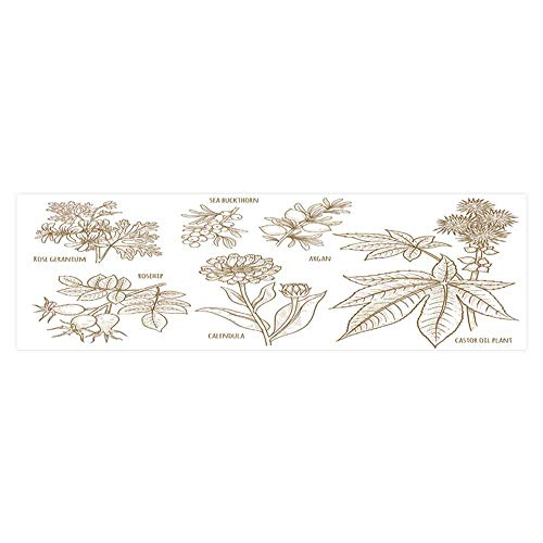 (Dragonhome Background Fish Tank Decorations Calendula Rosehip argan Rose Geranium Castor Oil Plant sea Buckthorn Fish Tank Wallpaper Sticker L23.6 x H11.8)
