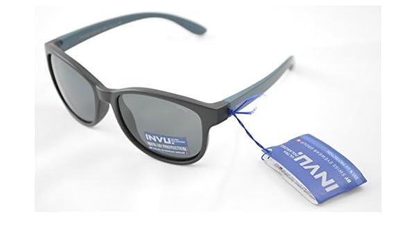 INVU Gafas de sol polarizadas Bimbo K 2511 A Negro Extensible Lentes 100% UV Block Sunglasses Polarized: Amazon.es: Deportes y aire libre