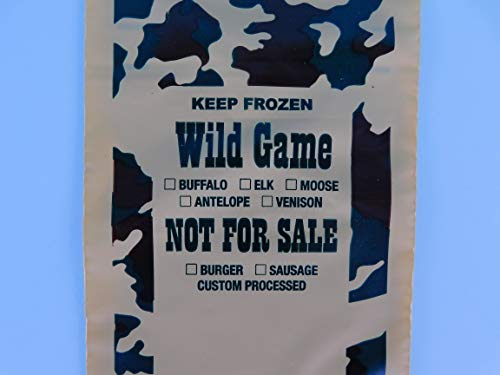 Freezer Bags. 100 ct. 1-Lb capacity for all wild game meat. Burger - Wild Game Burgers