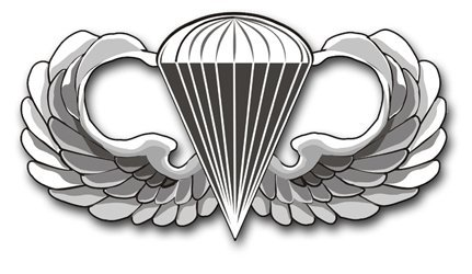 """US Army 3.8"""" Basic Jump Wings Decal Sticker"""