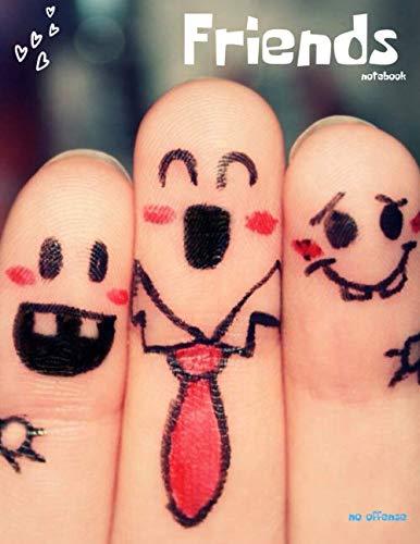 FRIENDS NOTEBOOK: Sentimental Gifts for Friends Merchandise - Long Distance Friendship Souvenir - Blank Graph Paper Journal Grid Notebook with ... Girls Boys or Kids Minimalism Art Notebook