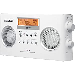 Sangean PR-D5 Portable Radio with Digital Tuning and RDS (White)