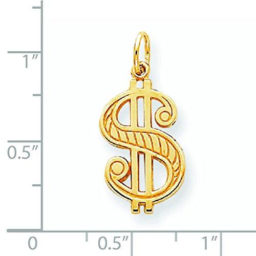 10 k massif poli-Signe Dollar-Qualité supérieure-Or Or 9 Carats JewelryWeb que