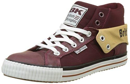 British Knights Herren ROCO Hohe Sneaker Rouge (Dk Burgundy/Black)
