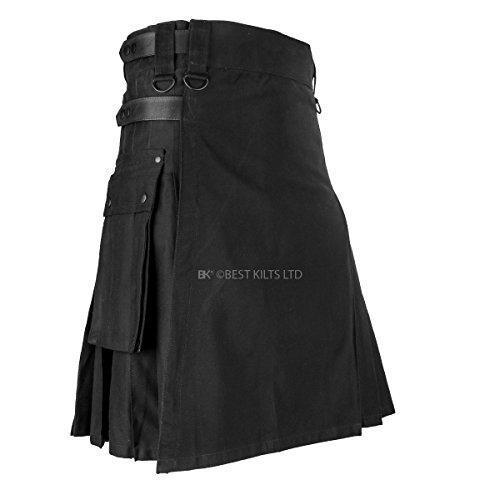 Black Leather Straps Fashion Utility