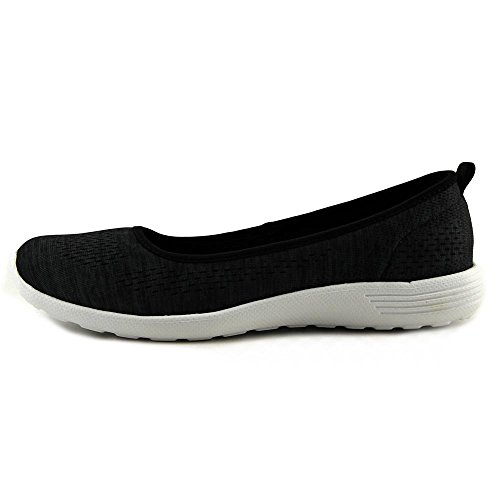 Skechers Stardust-Follow Me Mujer US 7.5 Negro Zapatos Planos