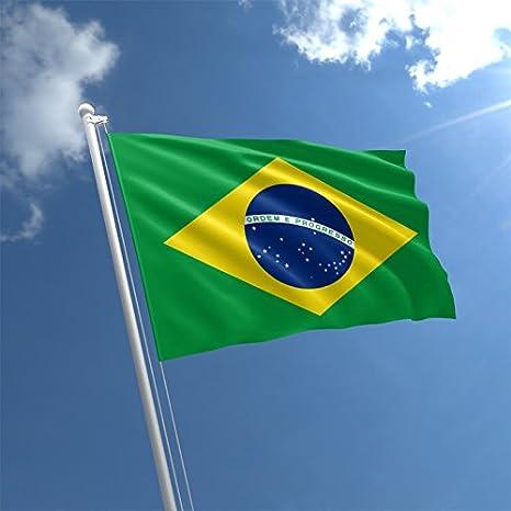 Mi planeta gran 5 x3 bandera de Brasil Premium calidad Brasil Partidario Fans bandera de decoración: Amazon.es: Jardín